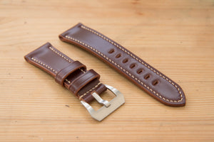 Burgundy Shell Cordovan Leather Standard Tapered Watch Strap for Panerai (22, 24 or 26 mm)