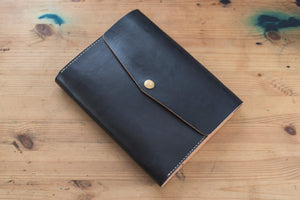 A5/Hobonichi Cousin/Seven Seas Black Leather Notebook Cover