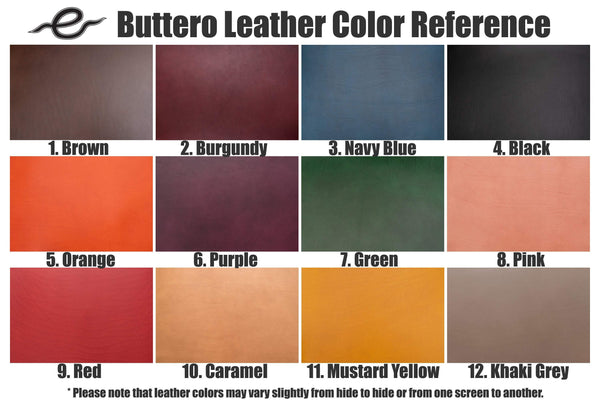 "12 COLORS - Burgundy Buttero Leather ""Army Knife"" Key Holder - Eternal Leather Goods"