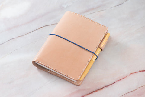 A6/Hobonichi/Midori MD Natural Elastic Closure Notebook Cover