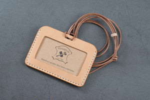 Natural Vegetable-tanned Leather ID Card Holder (Long)