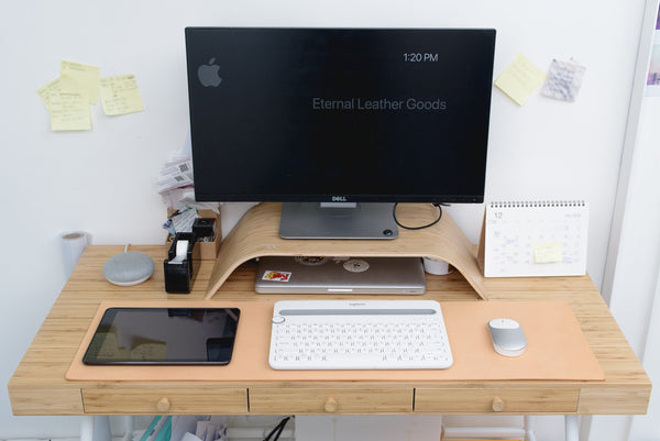 Natural Leather Desk / Keyboard & Mouse Pad