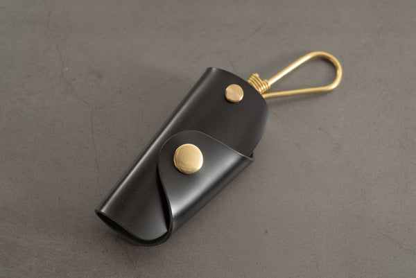7 COLORS - Black Shell Cordovan Leather Key Case
