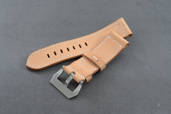 "Natural Leather Tapered ""Heritage"" Watch Strap for Panerai Watches"
