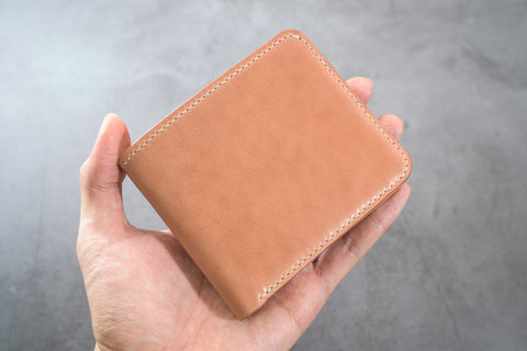 7 COLORS - 6-Slot Natural Shell Cordovan & Natural Leather Billfold Wallet