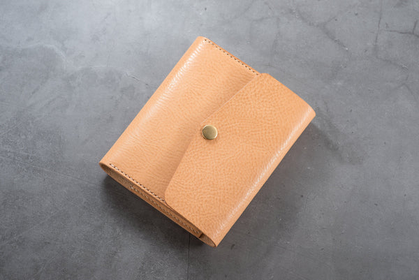 6 COLORS - A6/Hobonichi/Midori MD Natural Trifold Pebbled Leather Notebook Cover
