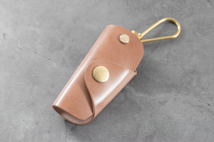 7 COLORS - Natural Shell Cordovan Leather Key Case