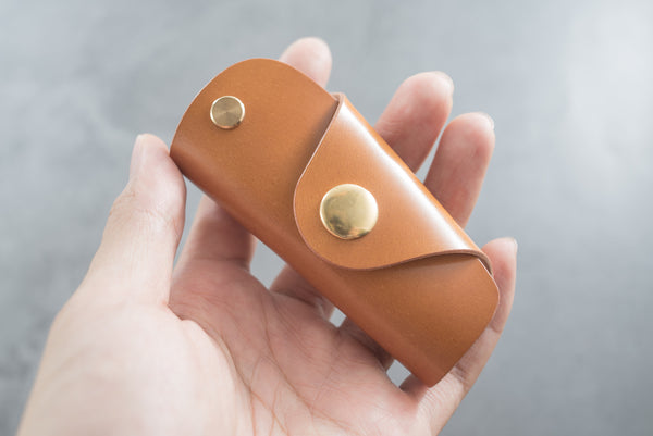 7 COLORS - Whiskey Shell Cordovan Leather Key Case