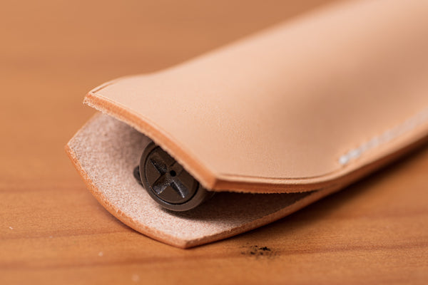 Natural Leather Full-sized Pen Sleeve