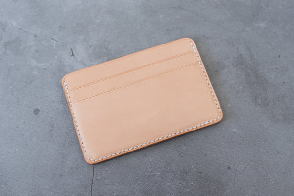 Natural Leather ID Window Pocket Wallet