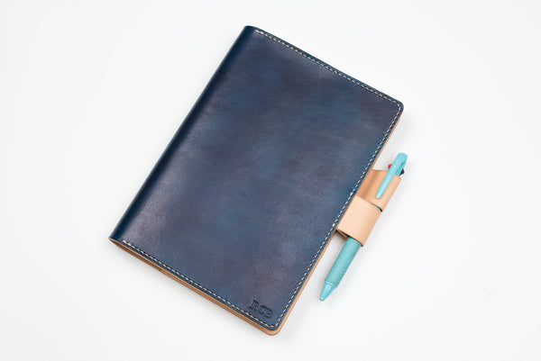 A5/Hobonichi Cousin/Seven Seas Navy Blue Leather Notebook Cover