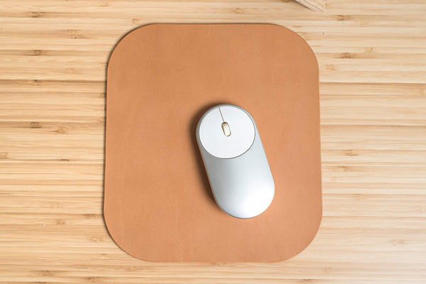12 COLORS - Caramel Buttero Leather Mouse Pad