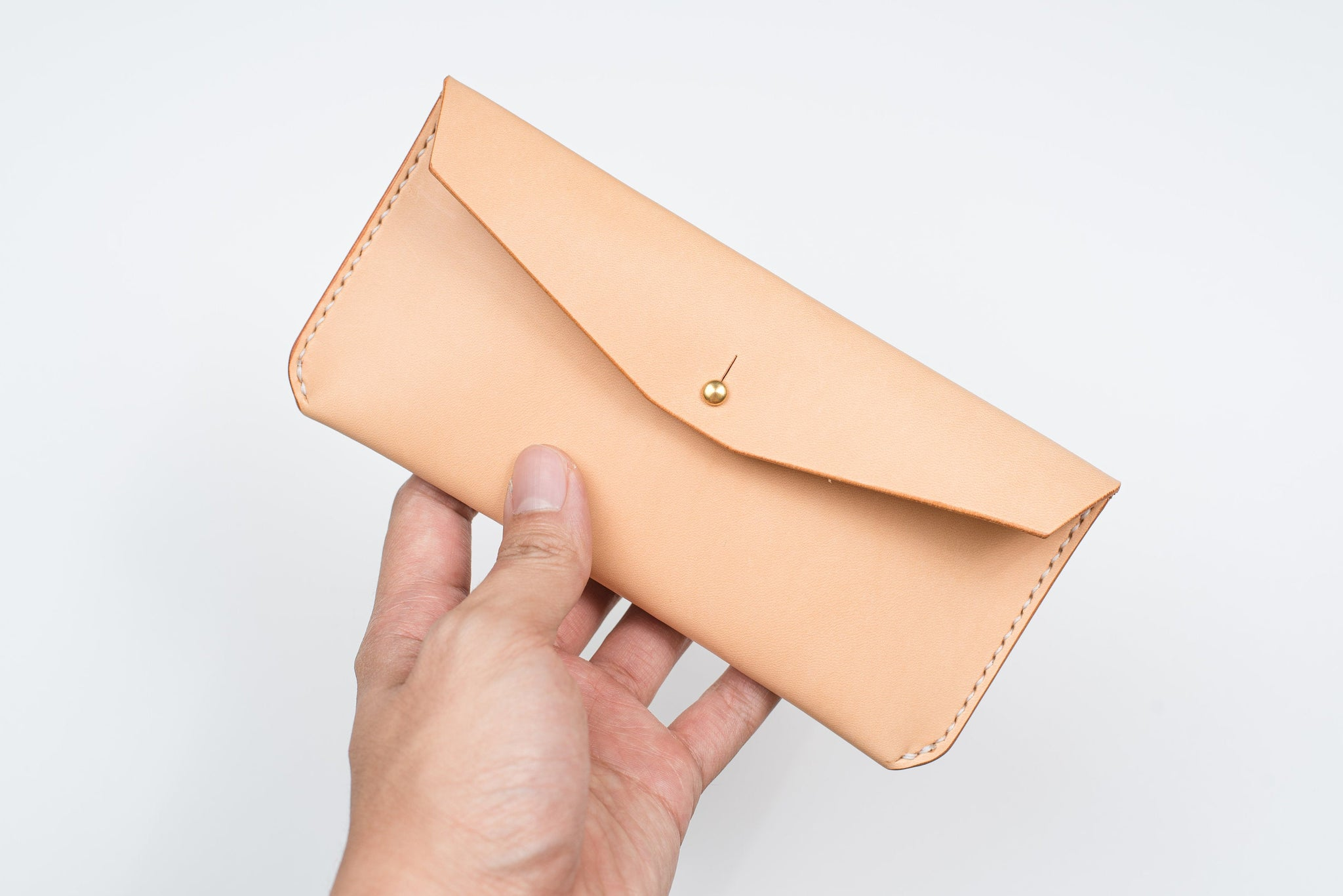 Natural Leather Pen Case / Utility Pouch