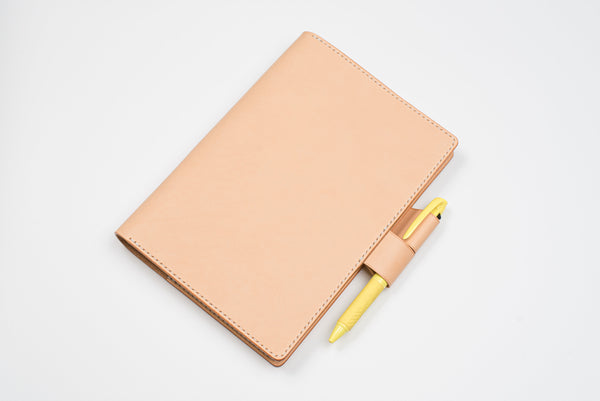 A5/Hobonichi Cousin/Seven Seas Natural Leather Notebook Cover