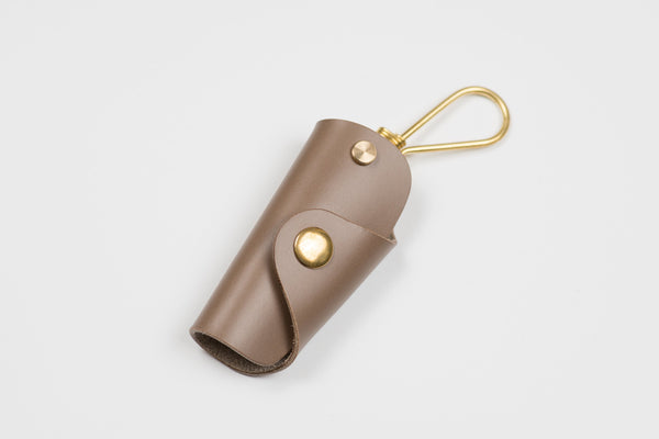 12 COLORS - Khaki Grey Buttero Leather Key Case - Eternal Leather Goods