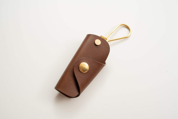 12 COLORS - Brown Buttero Leather Key Case