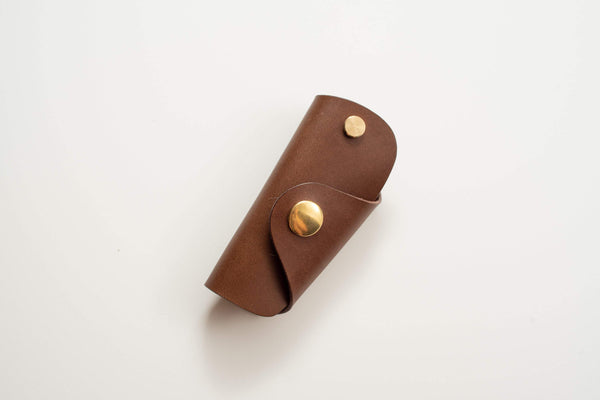 12 COLORS - Brown Buttero Leather Key Case - Eternal Leather Goods