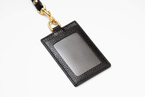 8 COLORS - Black Dollaro Leather Badge Card Holder - Eternal Leather Goods