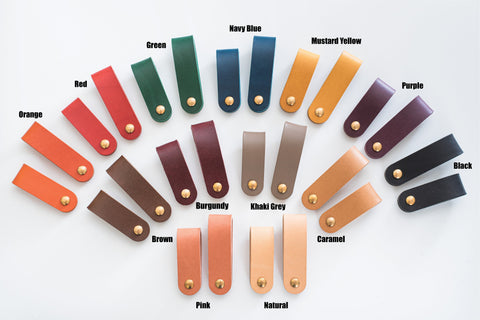 13 Colors - Leather Swivel Key Holder