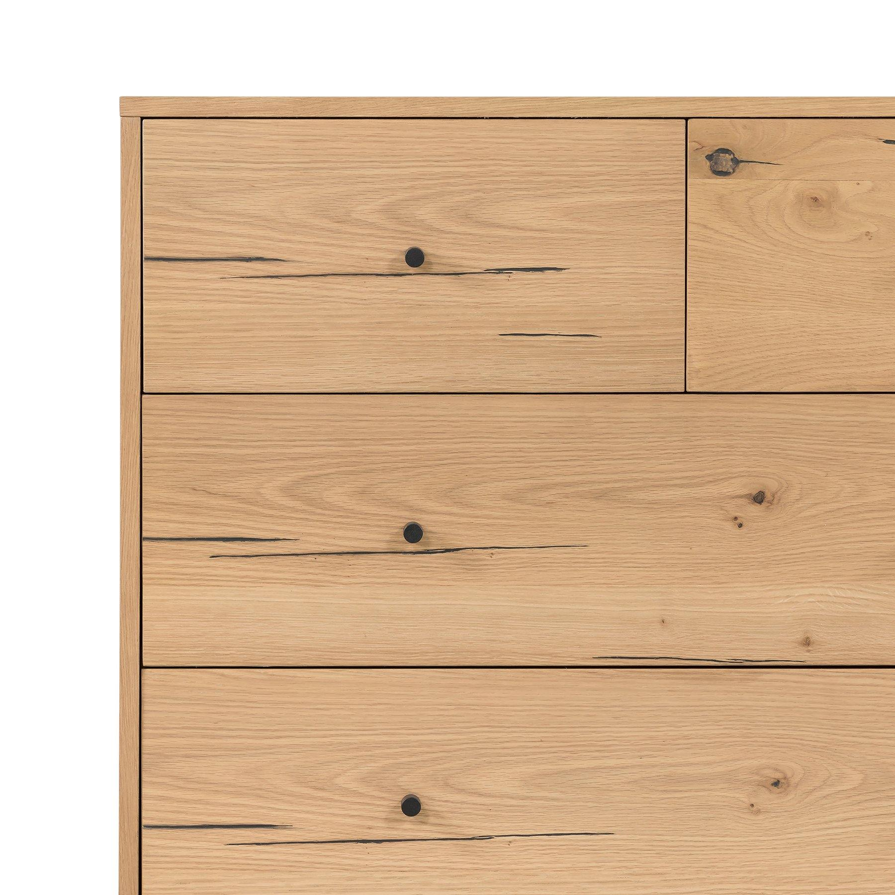 Easton 5 Drawer Dresser - Light Oak - Reimagine Designs