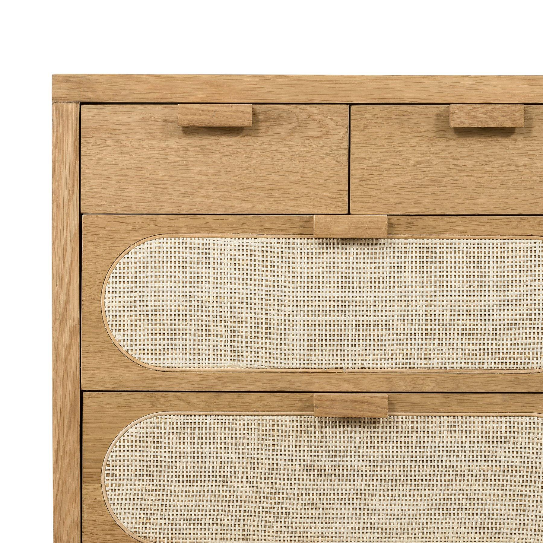 Allegra 8 Drawer Dresser Natural Cane