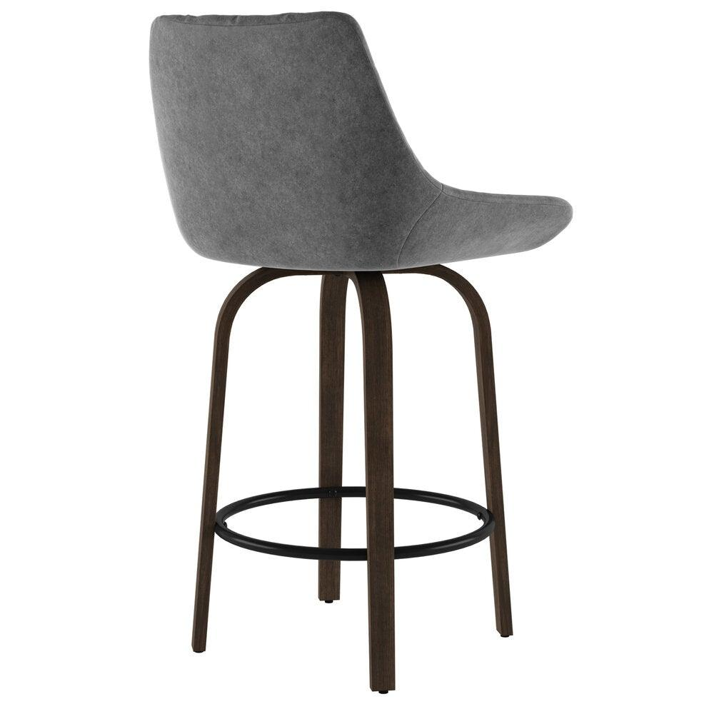 Kenzo Grey Counter Stool, Set Of 2