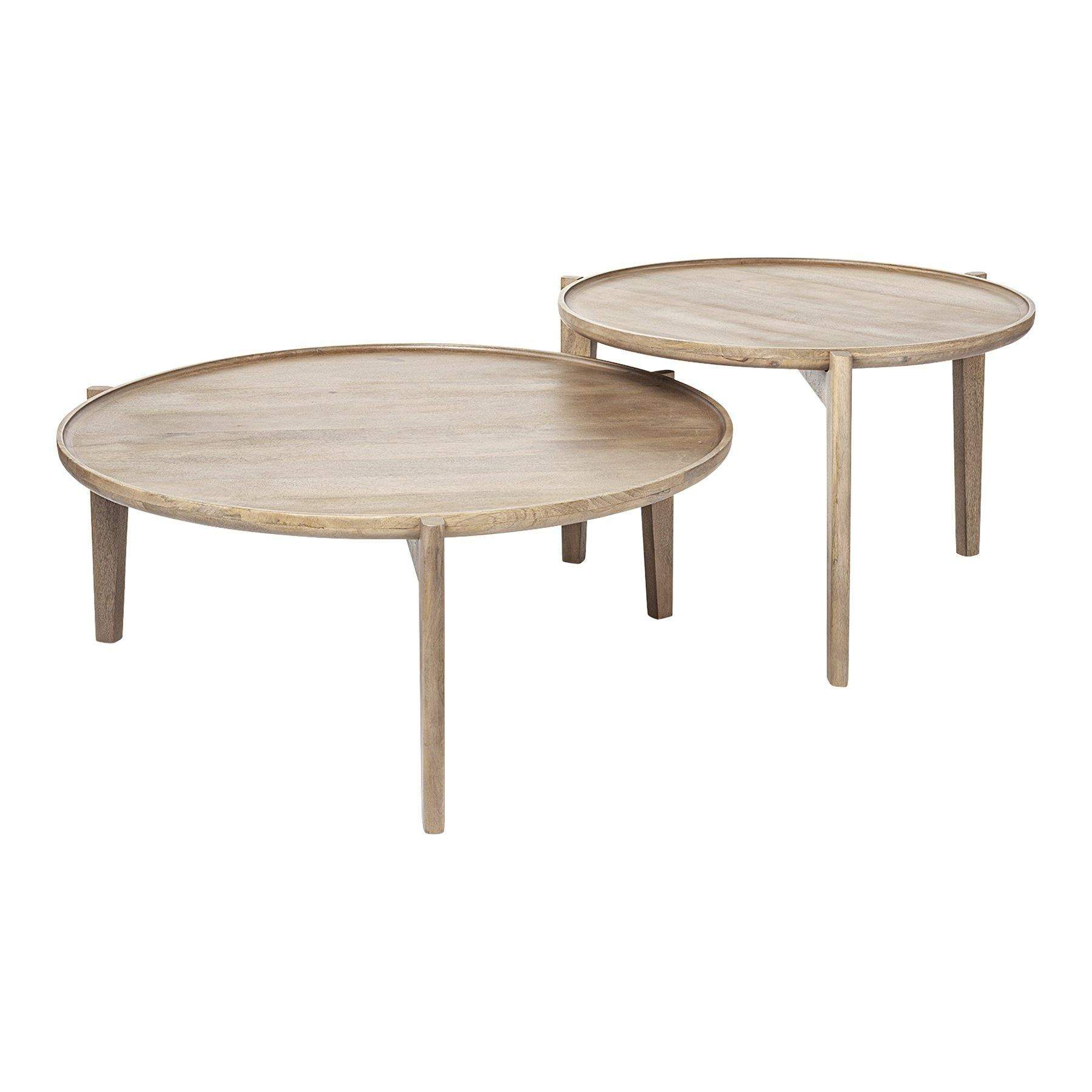 Wood Nesting Coffee Tables