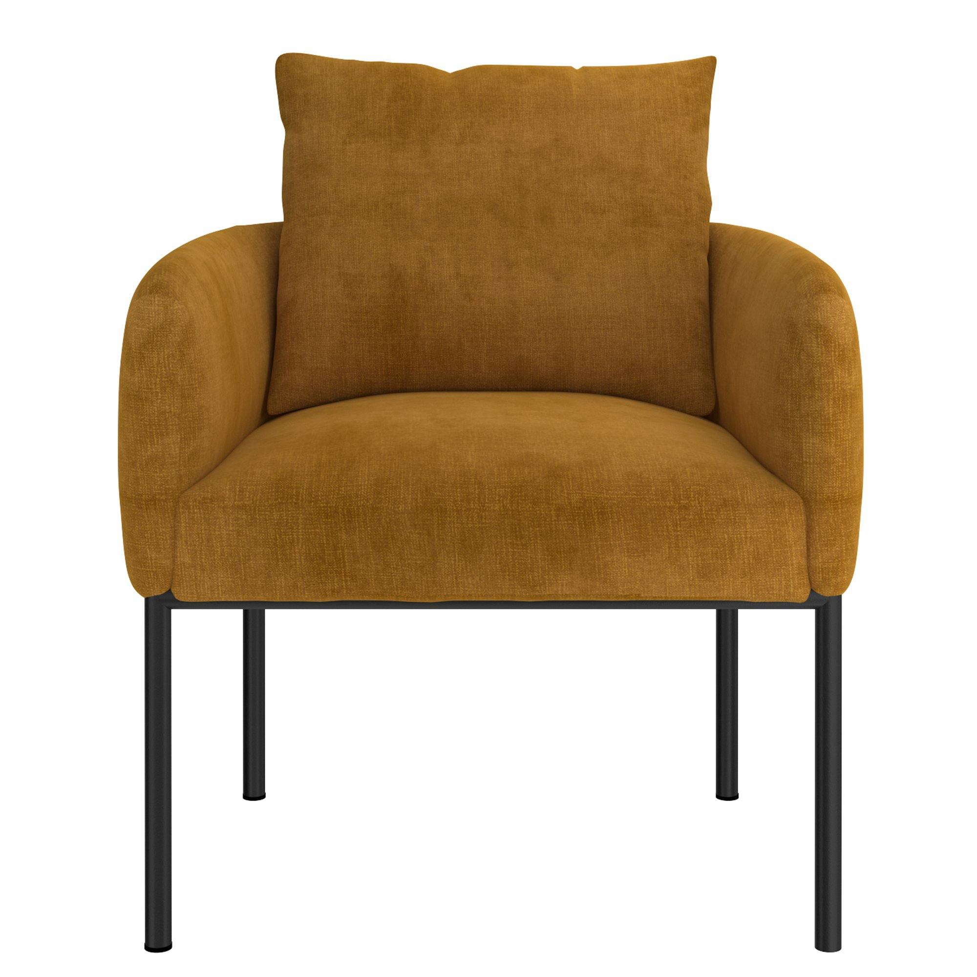 Petrie Mustard Accent Chair - Reimagine Designs