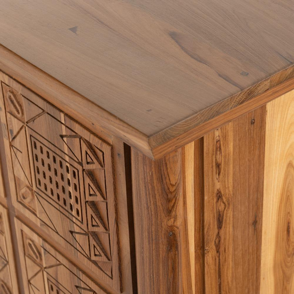 hand carved teak sideboard