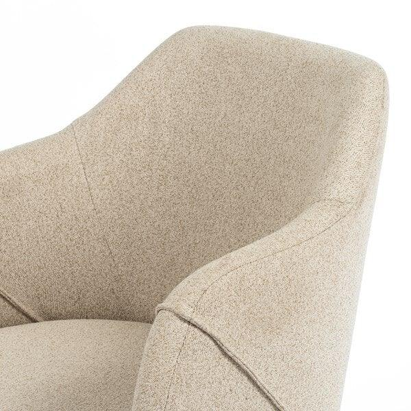 Edna Desk Chair-Fedora Oatmeal