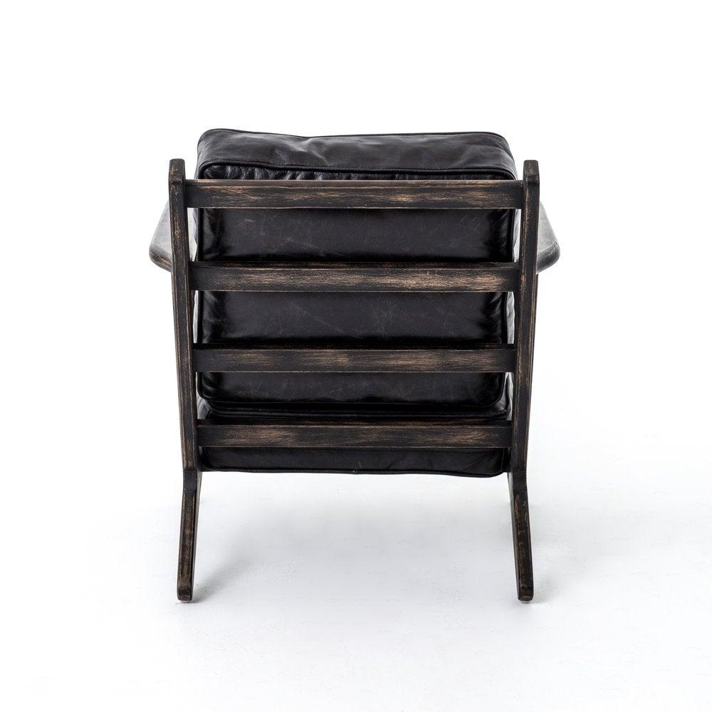 Brooks Lounge Chair In Rialto Ebony