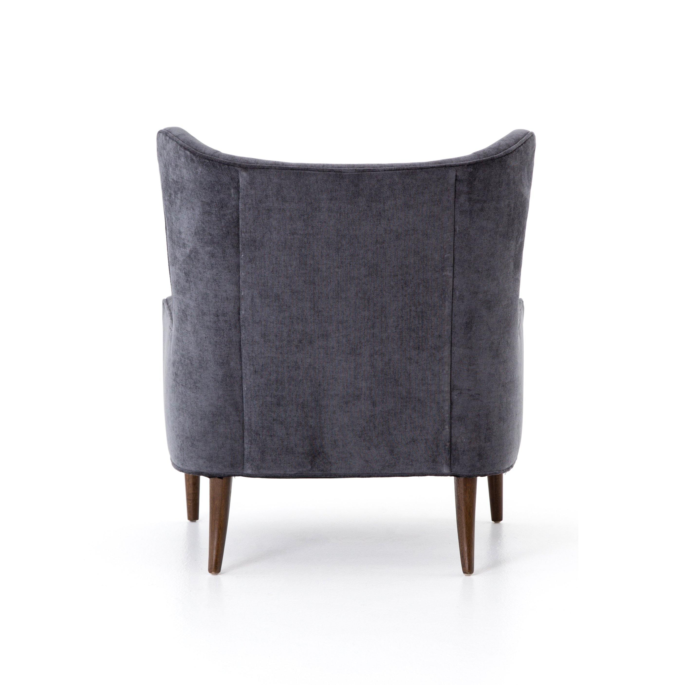 Clermont Chair - Charcoal Worn Velvet - Reimagine Designs
