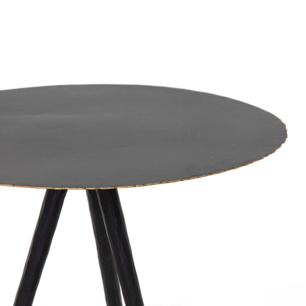 Trula End Table-Rubbed Black