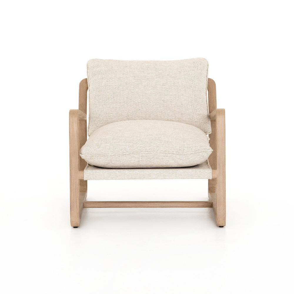 teak beige outdoor chair