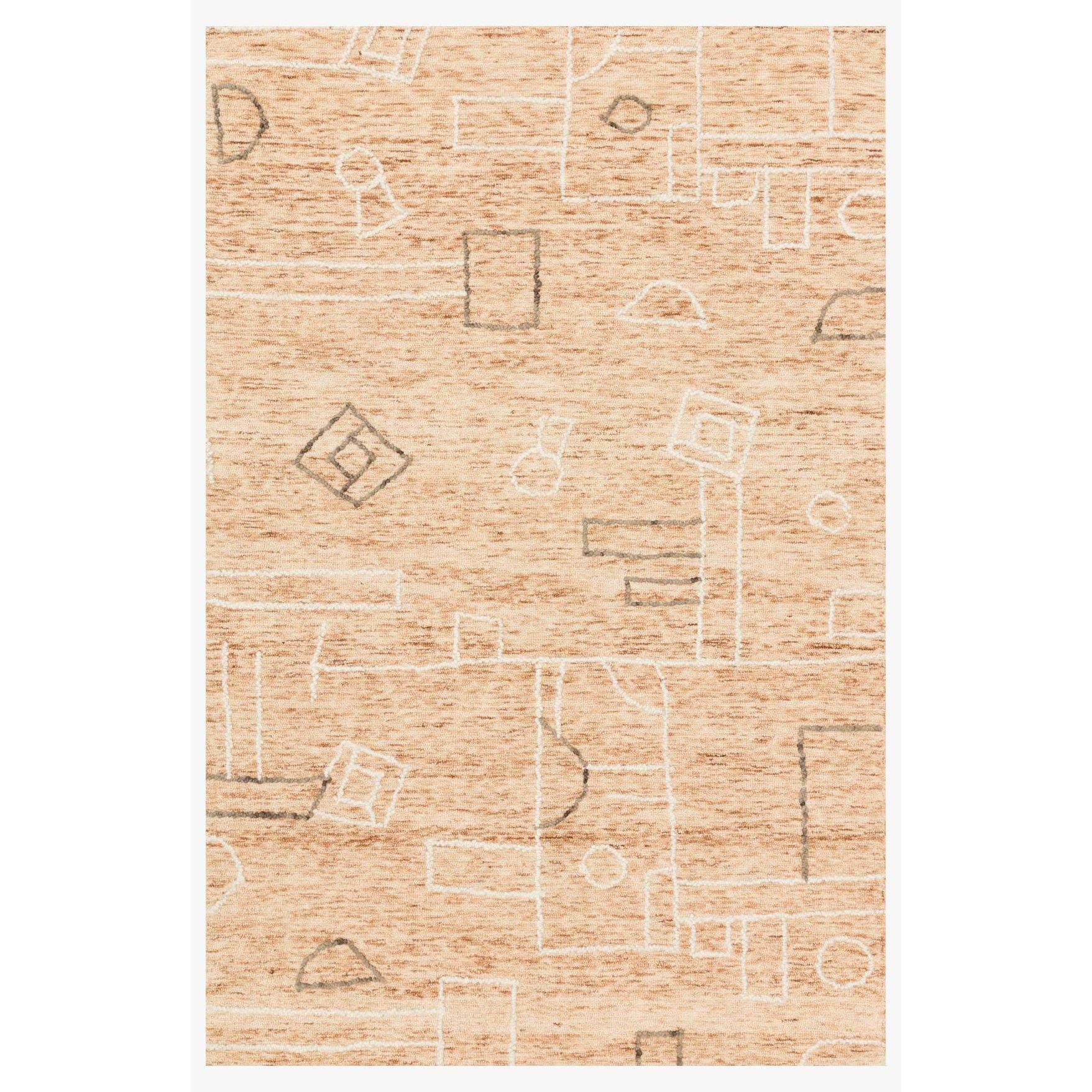Leela Terracotta / Natural Rug - Reimagine Designs