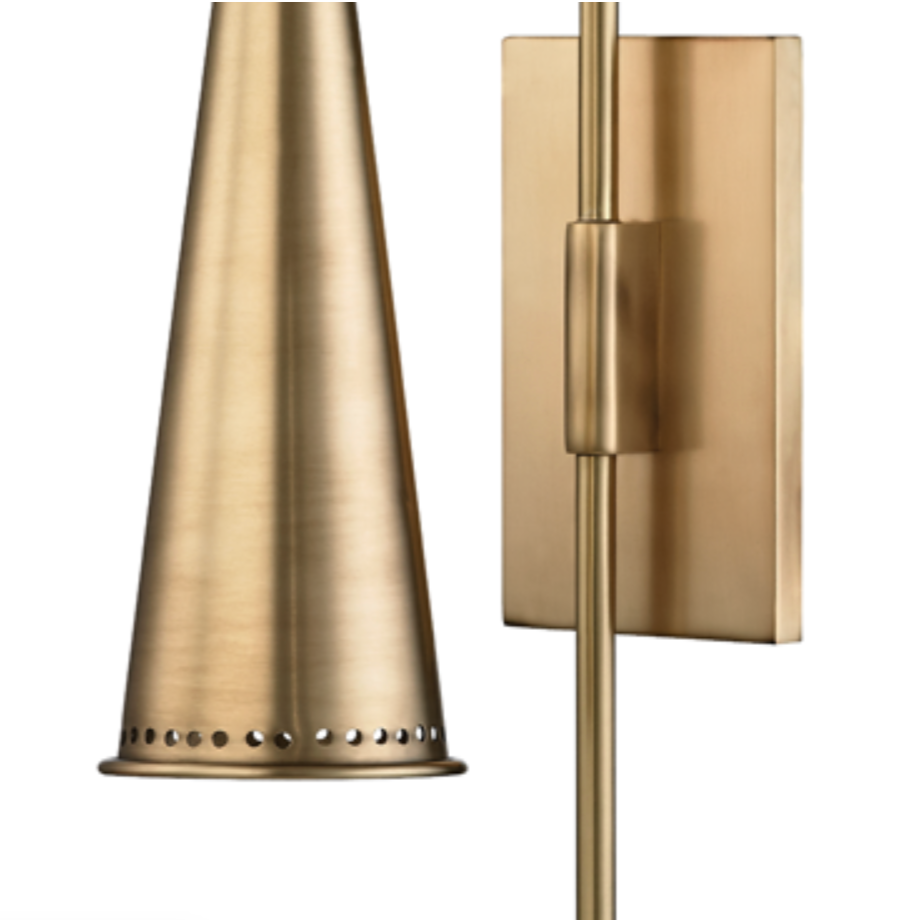 ALVA WALL SCONCE, AGED BRASS