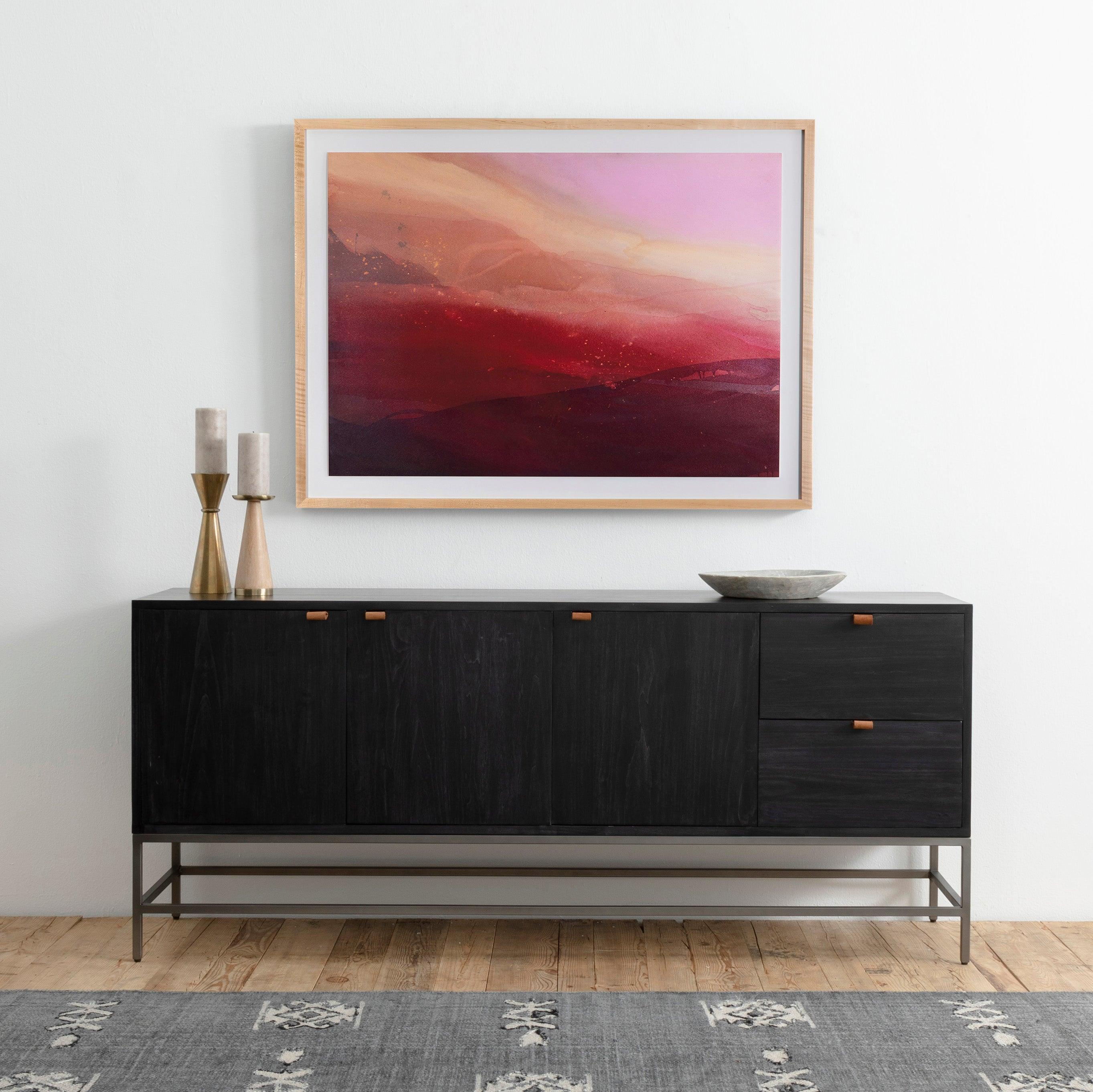 Black Wash Trey Sideboard
