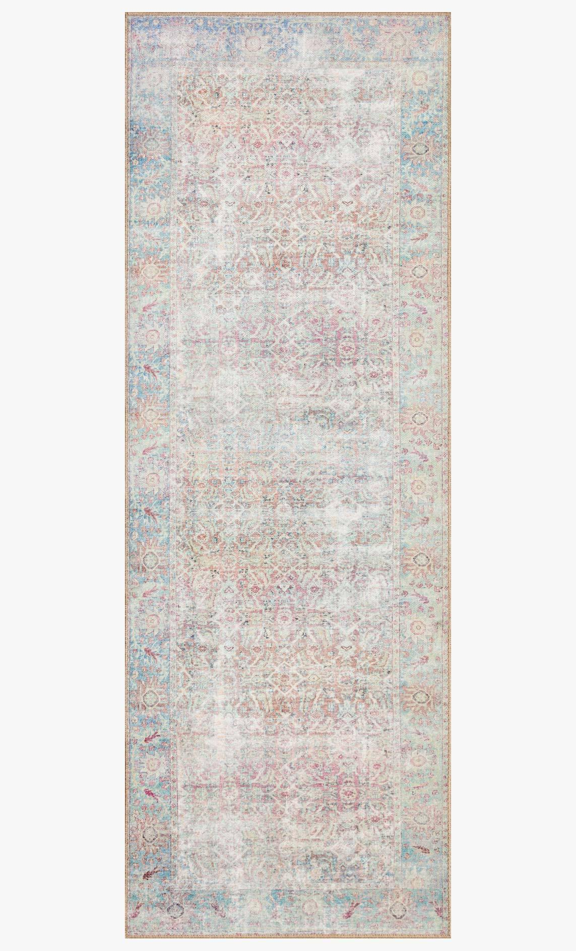 Wynter Red / Teal Rug - Reimagine Designs