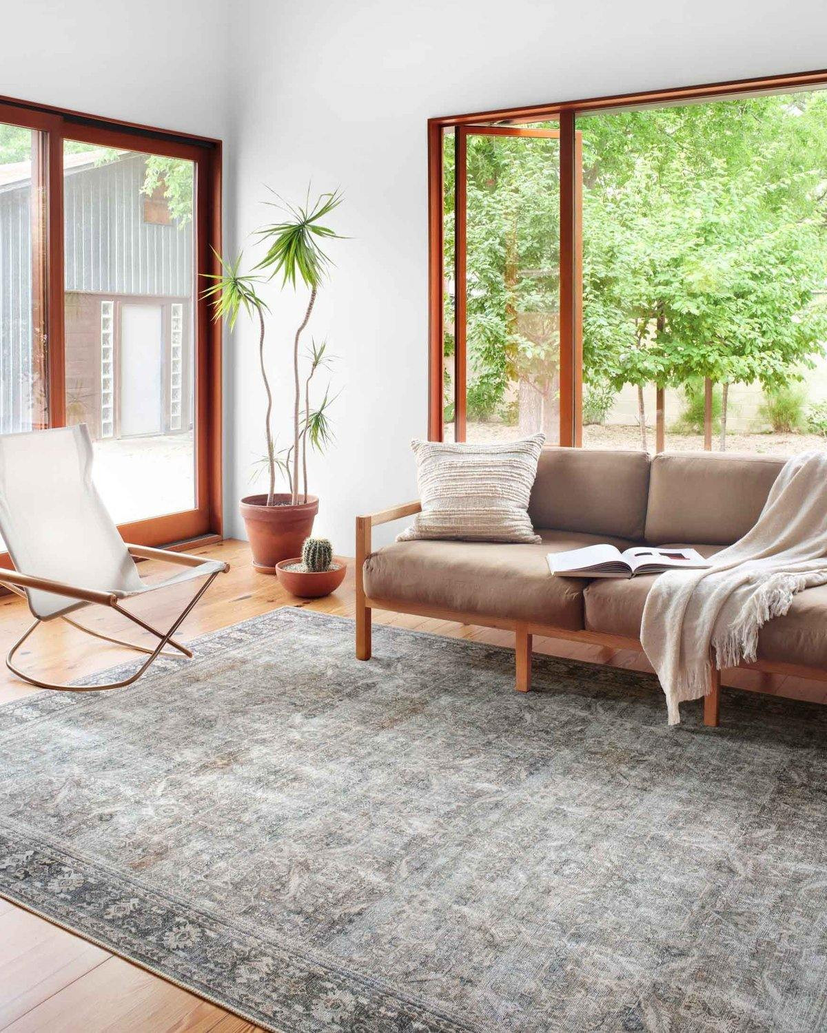 Wynter Grey Charcoal Rug Reimagine Designs