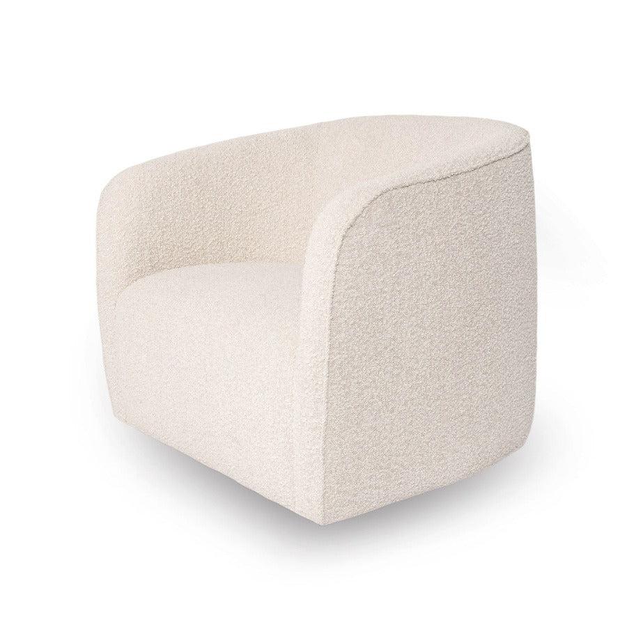 Bouclé Swivel Chair