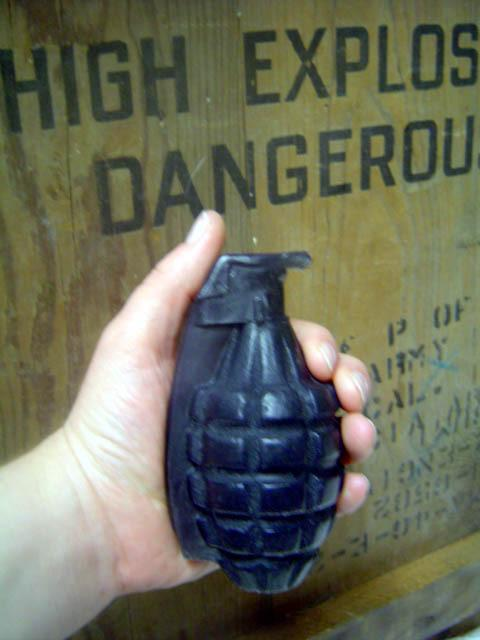 Black Hand Grenade Soap - Sandalwood