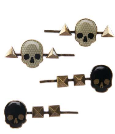 Geo Skull With Studs Hair Pin