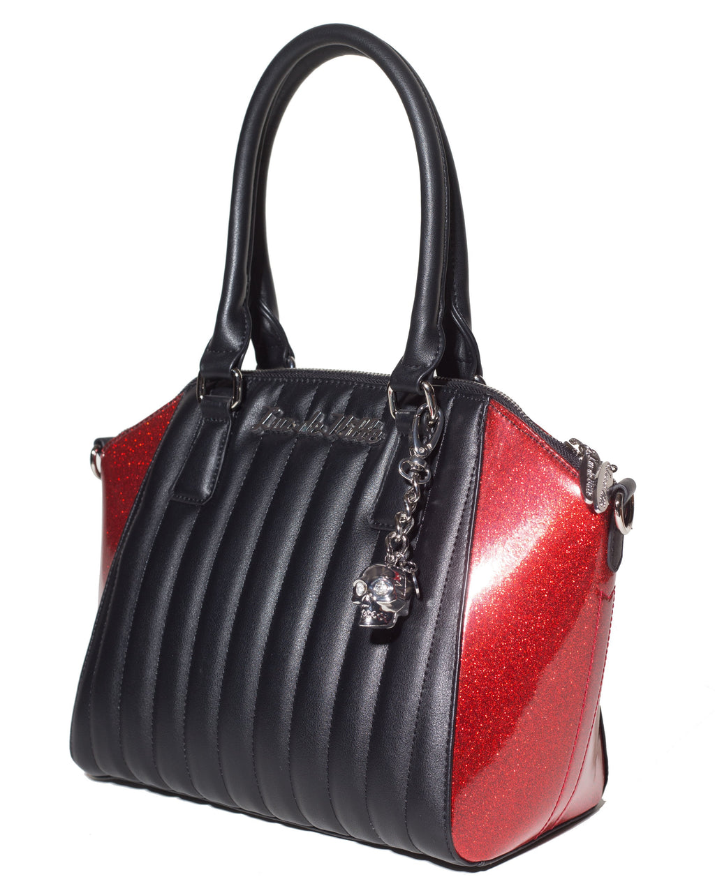 Lady Vamp Tote Black Matte and Venom Red Sparkle