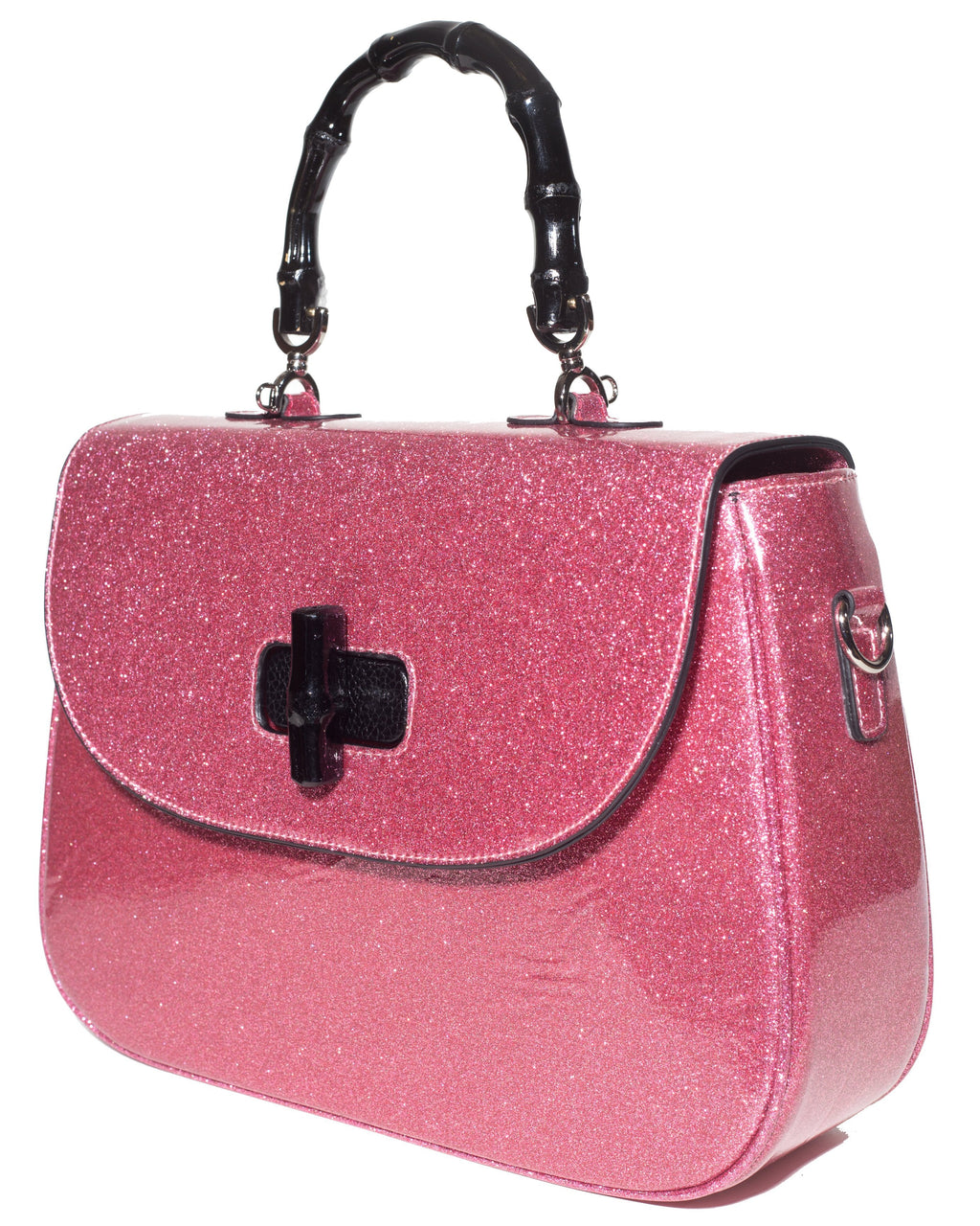 Tiki Bamboo Purse Bubbly Pink Sparkle