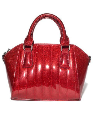 Mini Lady Vamp Tote Venom Red Sparkle