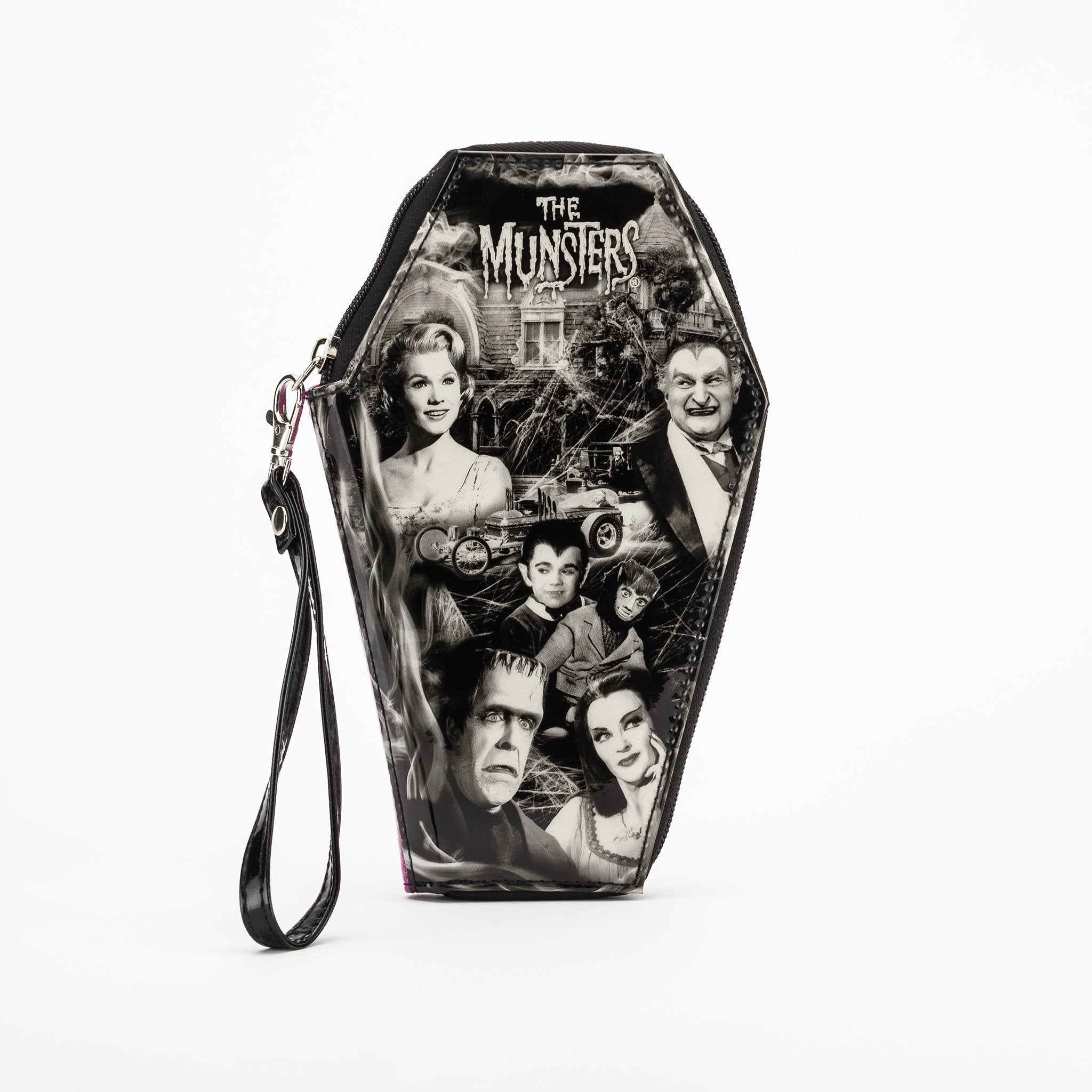 Munsters Family Glitter Coffin Wallet
