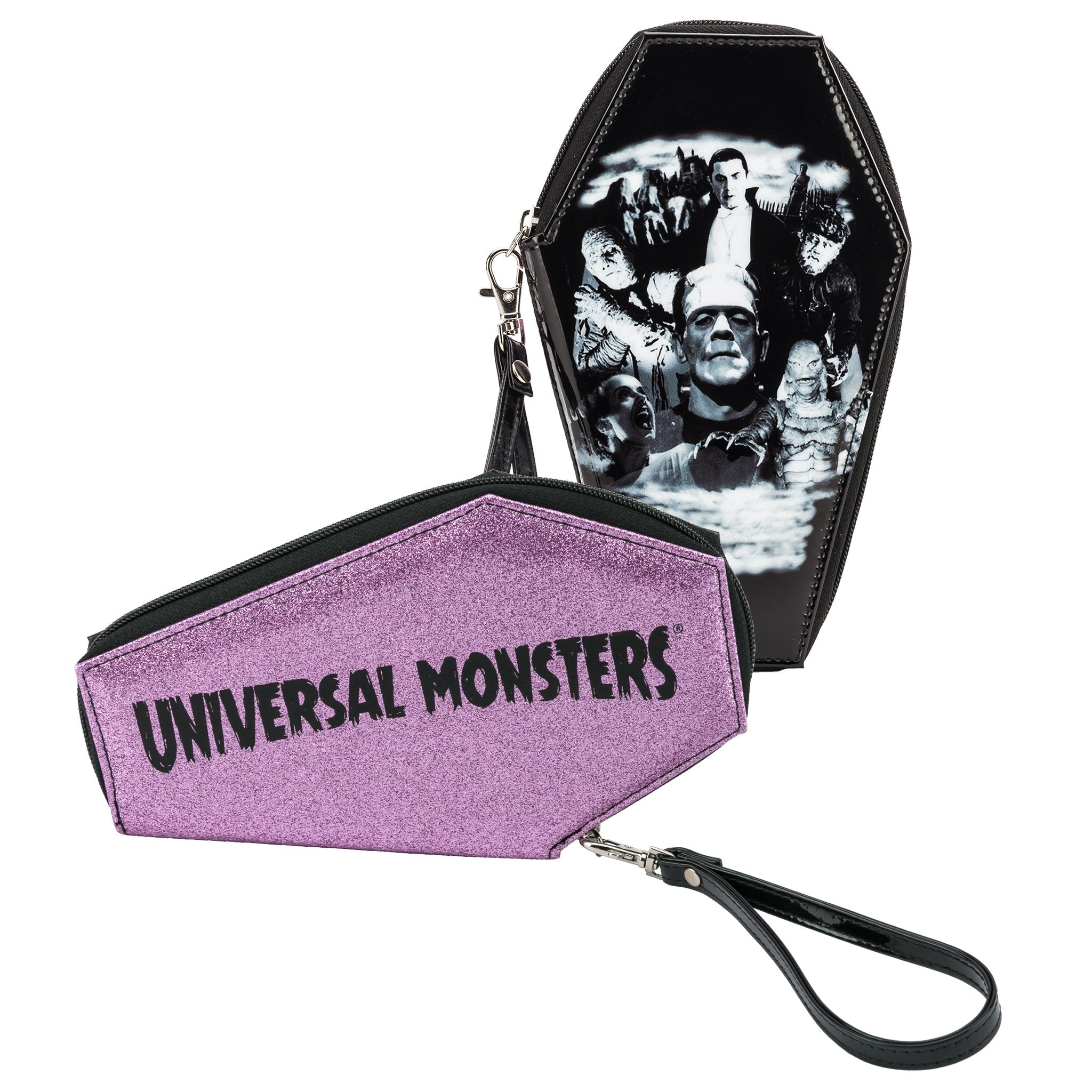 Monster Collage Glitter Coffin Wallet