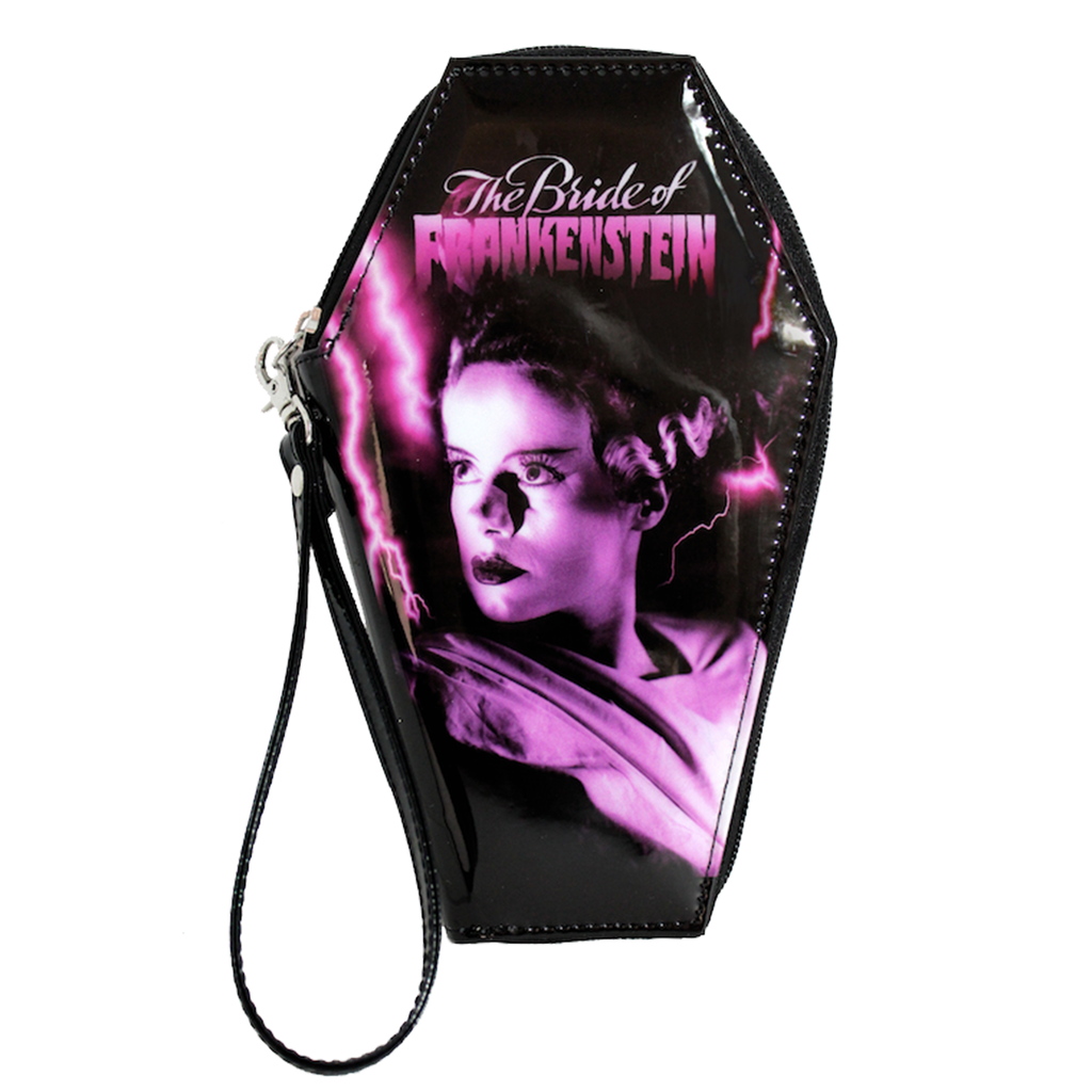 Pink Bride of Frankenstein Coffin Wallet
