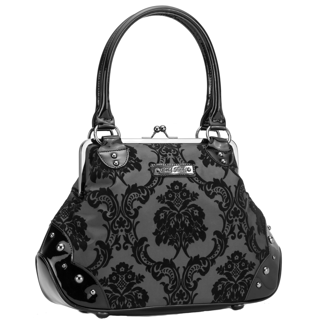 Mistress Kiss Lock Bag in Black