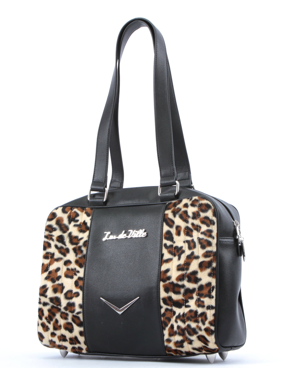 Carry All Tote Matte Black and Leopard